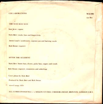 "MARK BEER single ""Collaborations"" (Waste, WAS 002, 1979)"